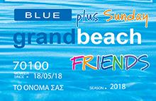 Blue Friends Plus Sunday